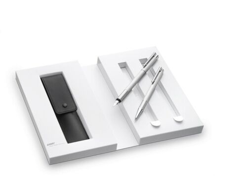 "Kugelschreiber Lamy-Set /""Logo/"" Füllhalter Lederetui in Geschenkverpackung"