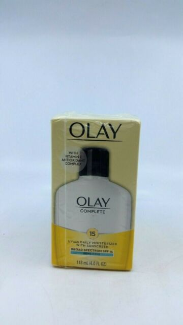 Olay Complete Lotion Moisturizer with Sunscreen SPF 15 Normal, 4.0 Fluid Ounce