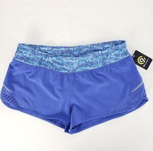C9-Champion-Sz-XL-Running-Shorts-Womens-Blue-Inner-Brief-Reflective-Zip-Pocket