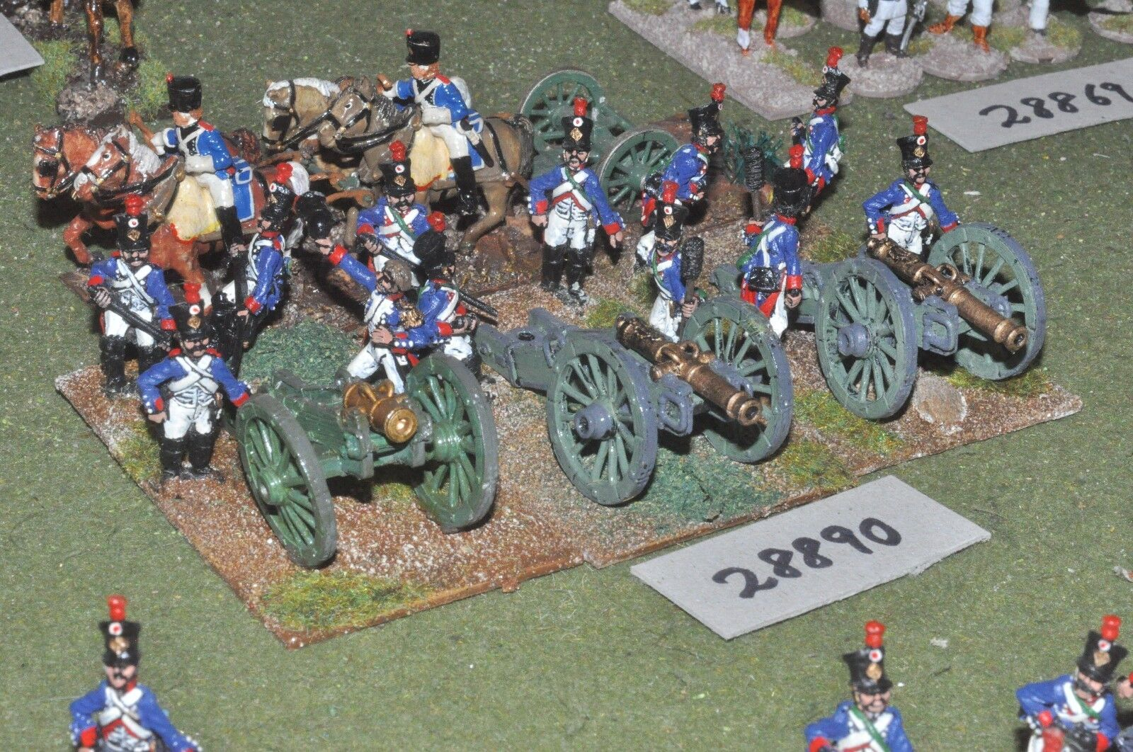 25mm napoleonic   french - 3 guns & crews - art (28890)