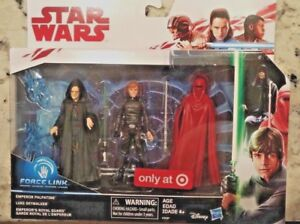3 PACK Force Link ROTJ  Emperor Palpatine Luke Jedi Royal Guard TARGET Exclusive