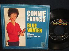 """Connie Franics sings """"Blue Winter/You Know You Don't Want Me"""" 45"""