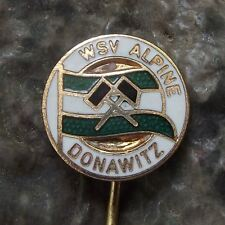 Antique DSV Leoben WSV Alpine Donawitz Soccer Football Club Team Crest Pin Badge