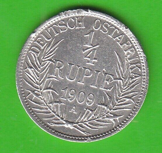 German East Africa 1/4 Rupee 1909 a nswleipzig