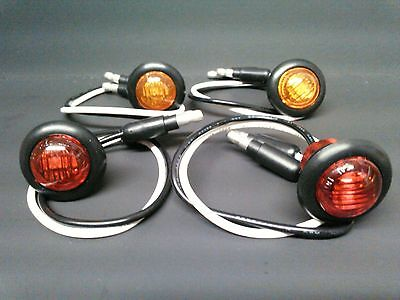 4 Pack Tusk Round L.E.D Turn Signals