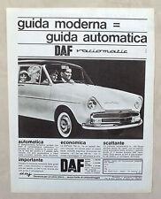 E342-Advertising Pubblicità-1965 - DAF AUTOMATICA VARIOMATIC