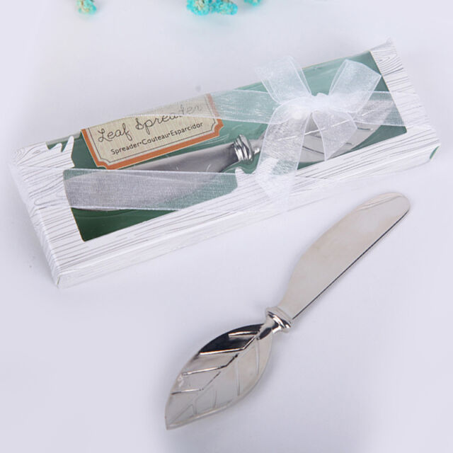 Leaf Shape Handle Knife Butter Wedding Party Favors Stainless Steel Silverware