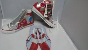 Rare-Item-Converse-All-Star-Ultraman-R-HI-Silver-Red-Sneaker-From-JAPAN-F-S