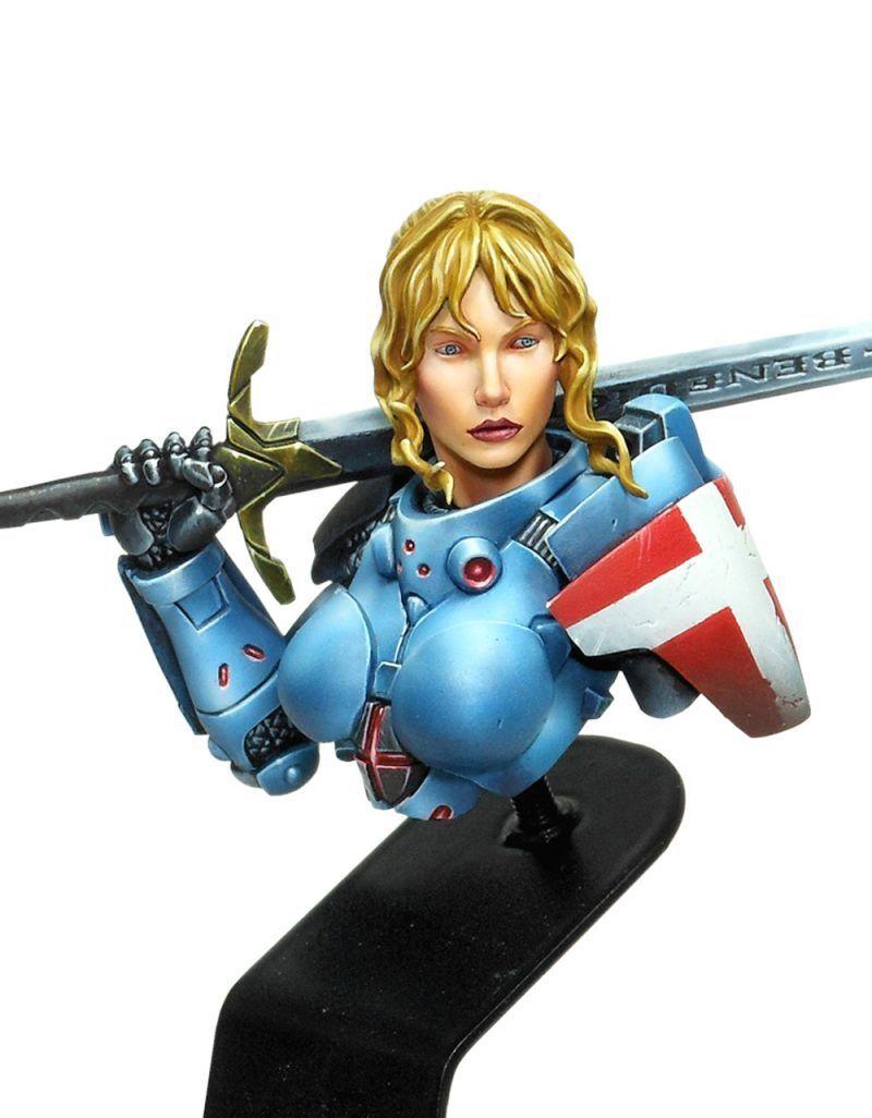 Luxumbra Infinity Joan of Arc Corvus Belli Bust Bust Panoceania Model D' Arc
