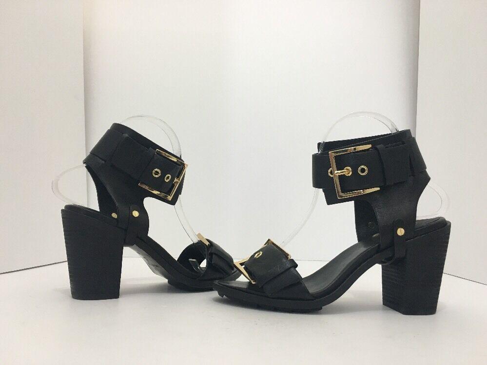 Rachel Zoe Reeve Schwarzes Leder Damen Damen Damen Sandalen mit High Heels Größe 6.5 M 1f82e3