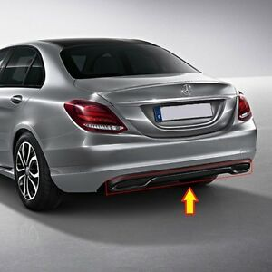 NEW-GENUINE-MERCEDES-MB-C-CLASS-W205-NIGHT-PACKAGE-GLOSS-BLACK-REAR-DIFFUSER