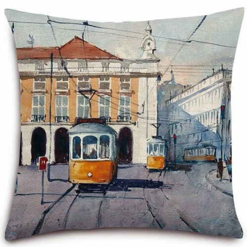 Oil Painting Vintage Cotton Linen Pillow Cases Pillow Cover Sofa Cushion Cover