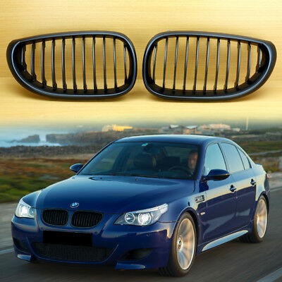 New Performance Type Matte Black Bmw 5 Series E60 E61 Front Grille Grill 520d Ebay