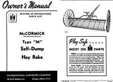 International Harvester c1950 - McCormick Type 'M' Self-Dump Hay Rake Owners Ma