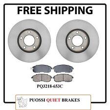 Front Kit Brake Rotors & Ceramic Pads For Nissan Maxima 1989-1999 , I30 96-99