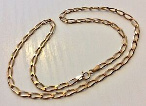 Good-Vintage-Fully-Hallmarked-9CT-Gold-Neck-Chain-16-inch