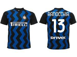 Dettagli su Maglia Ranocchia Inter 2021 Ufficiale Divisa Home 2020 Andrea 13 nerazzurra