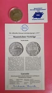 Maastrichter Verträge Niederlande Ecu 1993 Offizielle