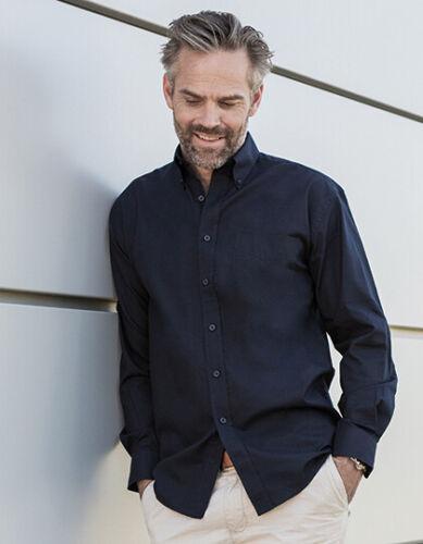 Oxford Hemd Herren Oberhemd Langarm Brusttasche Pflegeleicht Button-Down S 4XL