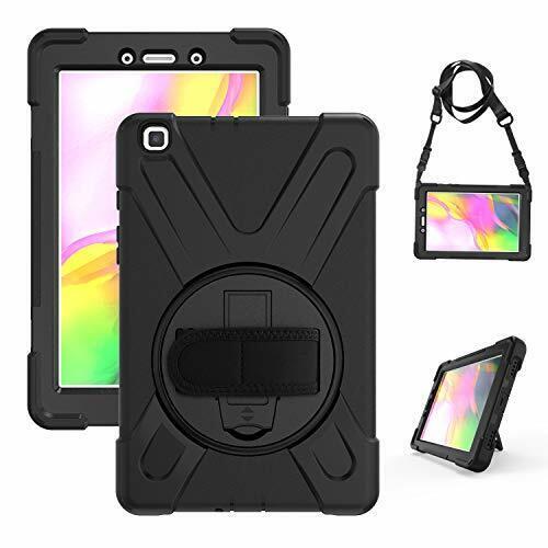 """Gerutek Coque Galaxy Tab A 8 2019 A 2019 8"""" T290 / T295, Noir"""