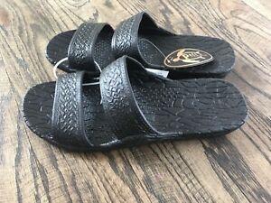 5695413a8 Original Pali Hawaii Sandals PH-0405 Black Classic Jandal Flip Flop ...