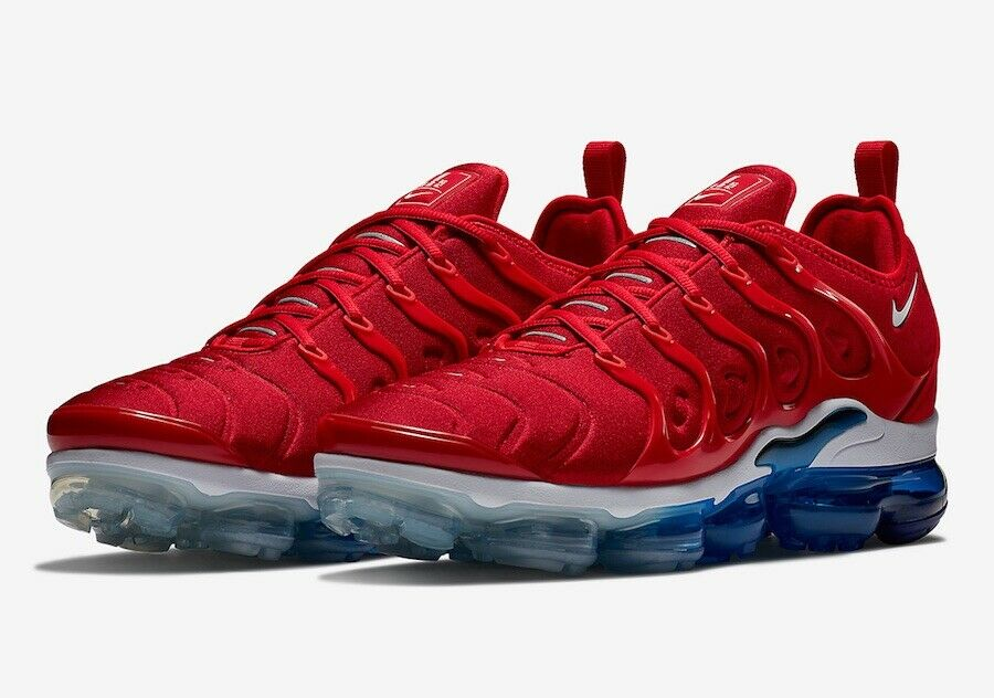 "Nike Air Vapormax Plus ""USA"" University Red White 924453-601 Men Sizes 7-13"