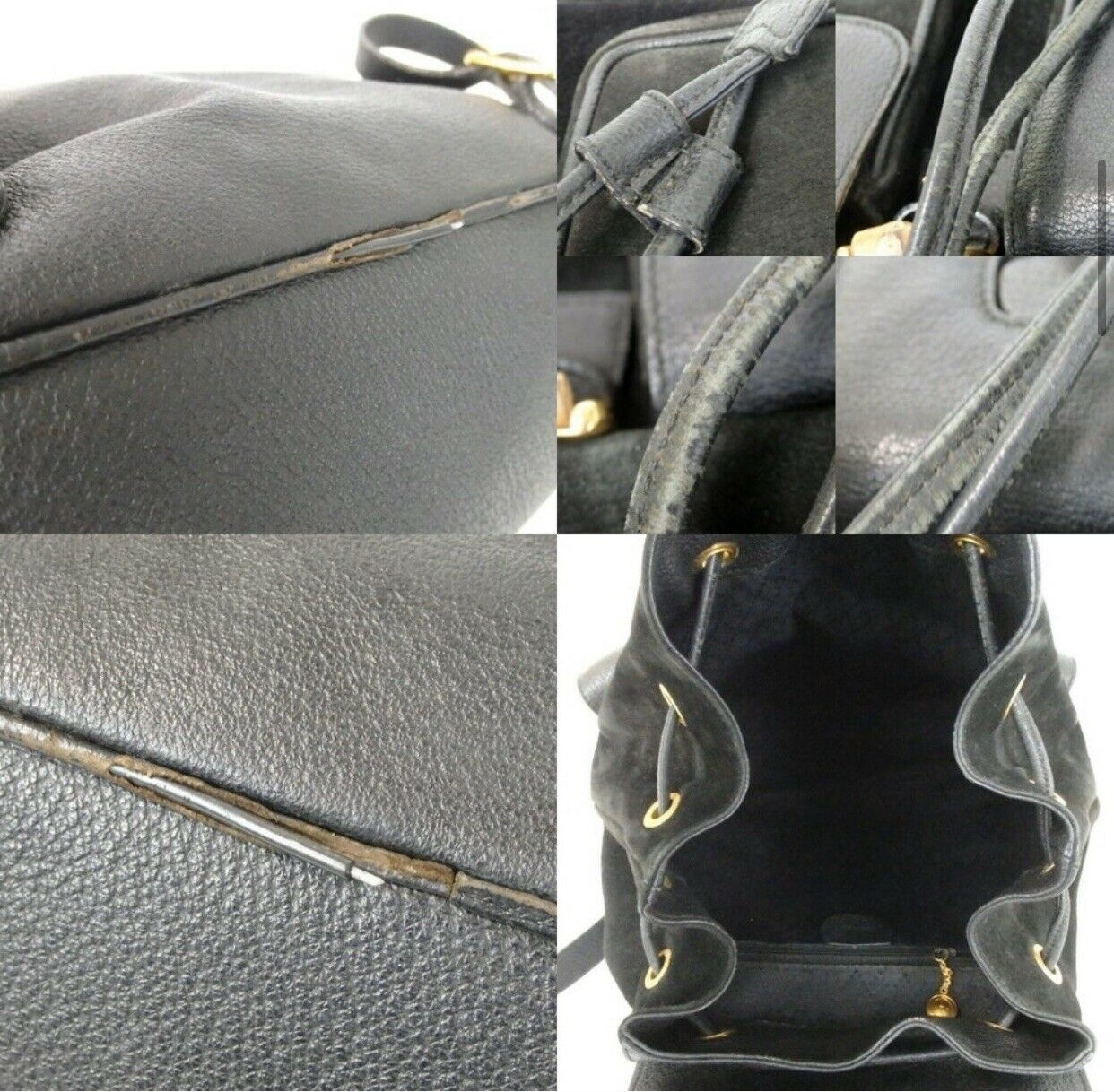 Authentic GUCCI bamboo Backpack - Daypack Suede L… - image 9