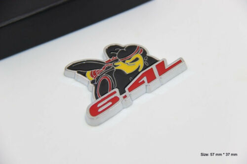 B482 Biene 6,4L Auto 3D Emblem Badge Aufkleber Car Sticker PKW KFZ 6.4 L