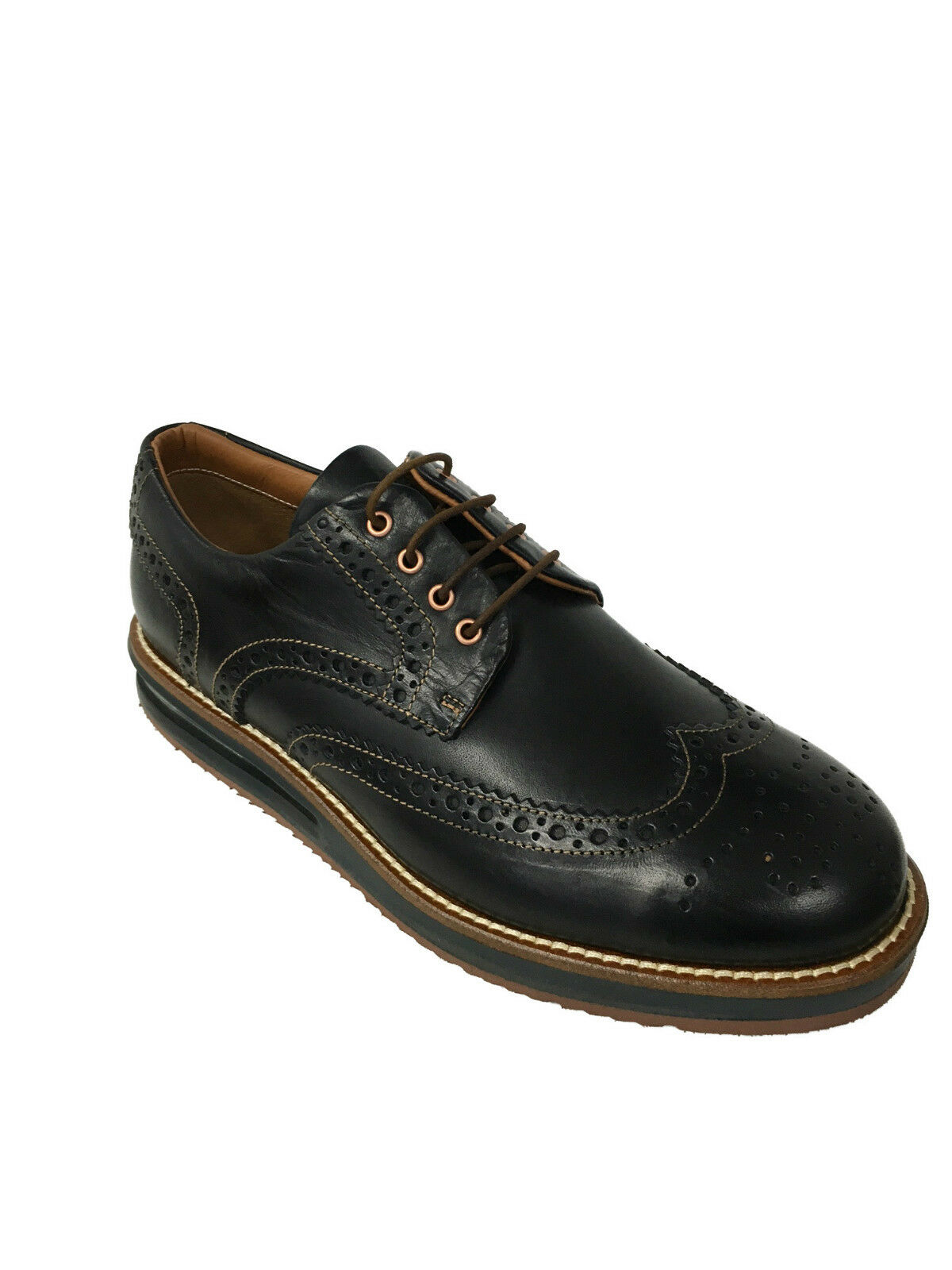 BARLEYCORN scarpa uomo allacciata nero mod COWHIDE 100% pelle MADE IN ITALY