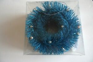 15 Ft Turquoise Blue Bendable Glitter Rope Ribbon Christmas Decoration Crafts