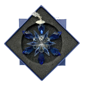 Christmas-Crystal-Glass-Ornament-Hanging-Pendant-Frozen-Edition-Snowflake-BLUE