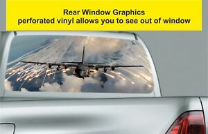 Window-Graphic-Tint-Truck-Jeep-SUV-Army-Fighter-Plane-Sticker-S59