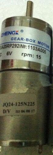 ZGA25RP DC 6V 15RPM 4mm Shaft Diameter Cylinder Shape Electric DC Gear Motor