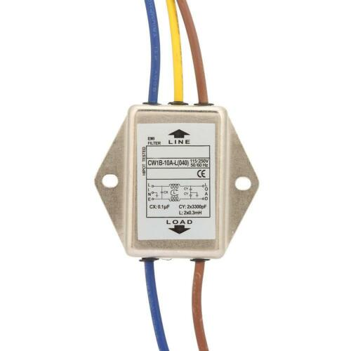 Single Phase Filter EMI Power Filter 125//250v 10A GD 040 1PCS CW1B-10A-L