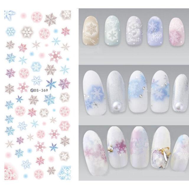 1 Sheet Nail Art Water Transfer Decal Christmas Snowflake Manicure