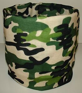 Black Leopard Spots Tubular Multi Function Headwear Scarf Balaclava Cap Beanie