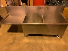 2 Compartment Sink With Left To Right Drainboard