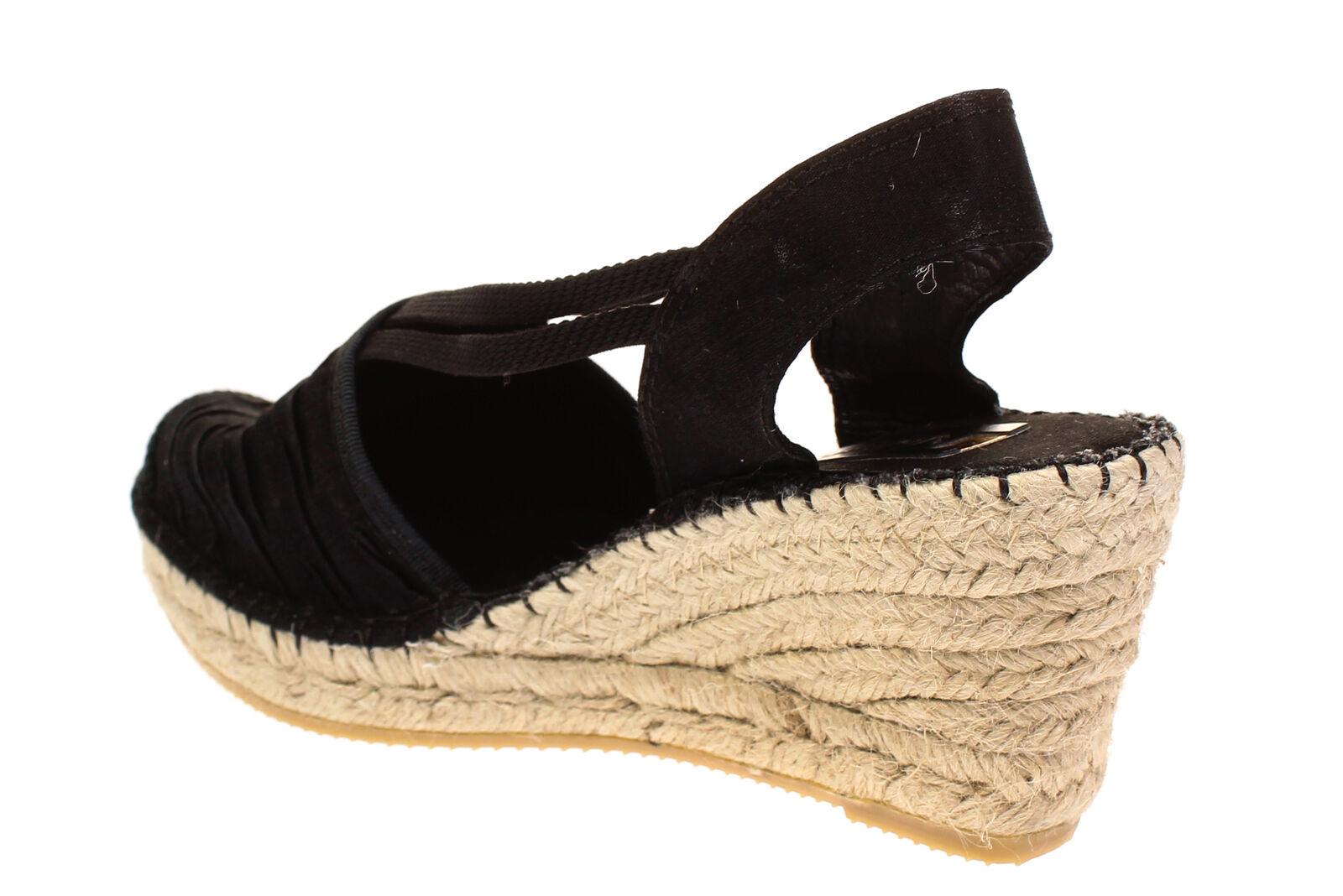 18c72b3c812d14 Vidoretta 18400-SEÑORA zapatos sandalias de cuña zapatos casual-estrella  negra e44243 - classics-cabriolets.com.es