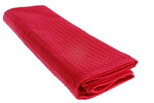 6x Torchon 100/% Coton Gaufre-piqué Noir Rouge Jaune putztücher Chiffon Set