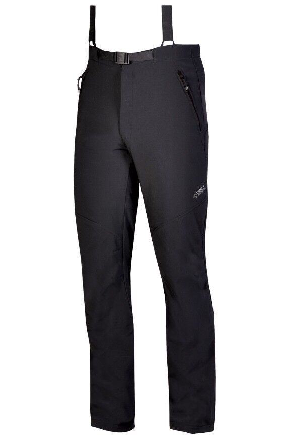 Direct Alpine Trek Pantalones Cálido Pantalones Softshell para Hombre Negro