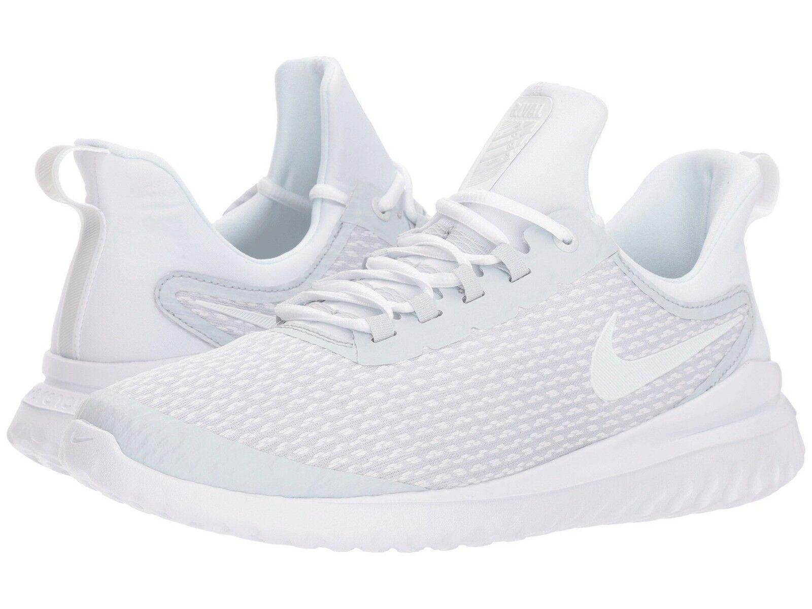 AA7400-010 Hommes Nike Renew Rival Running Pure Platinum/blanc Szs 8-13 NIB