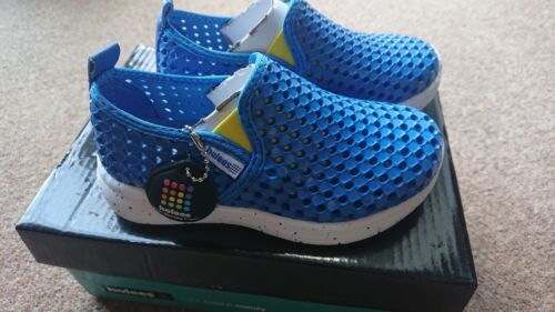 Holees Kids Original Ii Chaussures-Bleu Mer Speckle Infant Taille 12 New /& Boxed