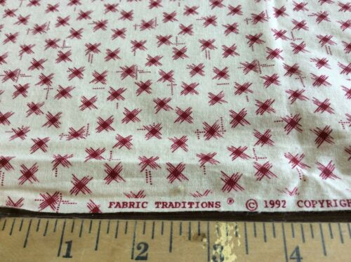 RED STAR BURSTS BY FABRIC TRADITIONS  BY THE YARD