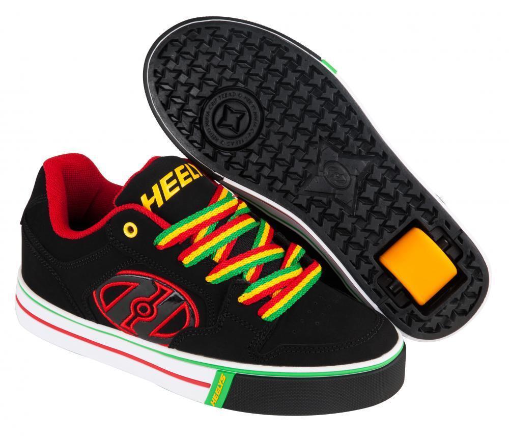 Heelys Motion Plus 770629  schwarz Reggae Schuhe mit der Rolle  Rollschuhe NEU