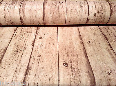 "WOOD PLANK Designer Curtain Upholstery Cotton Fabric Material 55""/140cm wide"