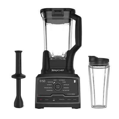 Ninja Chef 1500 Watt High Speed Blender Mixer Processor Duo w/ Single Serve Cup