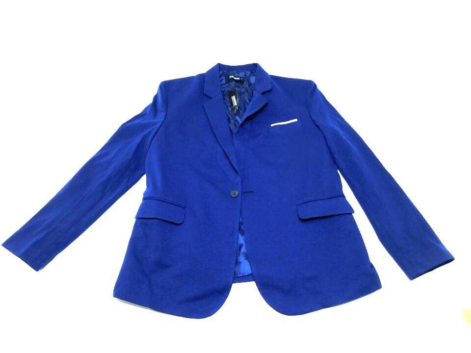 Flatseven coat for men dark bluee, large.