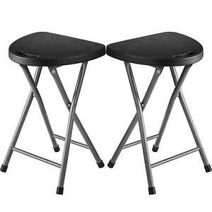 Zimmer Folding Stool Set Of 2 Portable Plastic Camping
