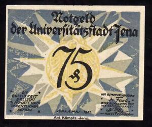 GERMANY (Weimar Republic) 75 Pfennig Notgeld, 1921, UNC World Currency