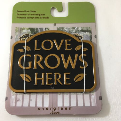 NEW Evergreen Garden Magnetic Plaque Love Grows  Screen Saver Doors /& Windows